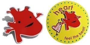 Heart Lapel Pin Feel The Beat I Heart Guts