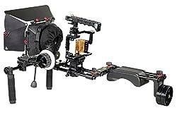 Filmcity Camera Cage Shoulder Mount Rig Kit for Sony a7R II, a7S II & a7 II (FC-A7RS-SRK)  MB-600 Matte Box   V2 Follow Focus   Free Accessories