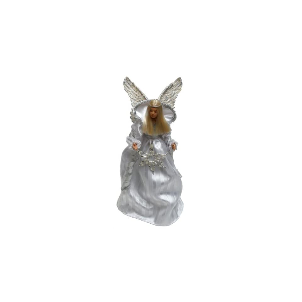 White Angel Christmas Tree Topper (12 Inches)