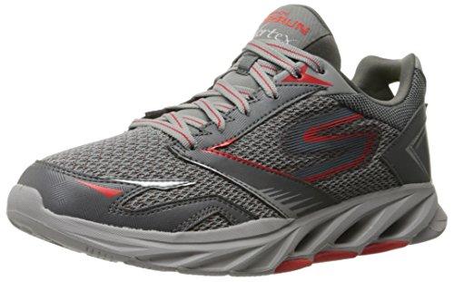 Skechers Performance Men's Go Run Vortex Spiral Running Shoe, Charcoal/Red, 12 M US