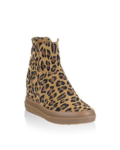 Ruco Line Botines cuña 4909 Soft Leopard