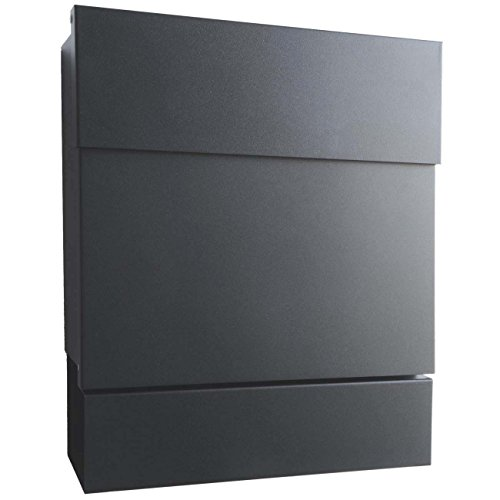 radius briefkasten letterman 5 anthrazitgrau ral 7016 mit zeitungsrolle. Black Bedroom Furniture Sets. Home Design Ideas