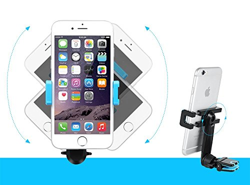 Air Vent Car Mount, AVANTEK Cell Phone Holder Cradle with 360-degree Rotation for Smart phone iPhone / Samsung Galaxy / Nexus / LG / HTC and More
