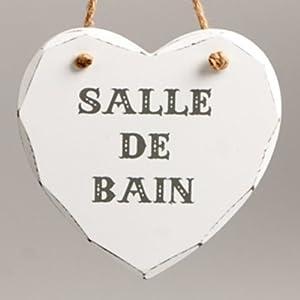 Vintage french country heart shabby chic salle de bain - Salle de bain shabby ...