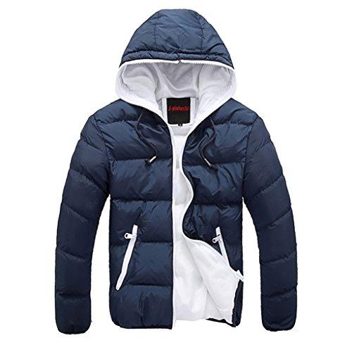 Highdas Uomo Ricreative Invernali Incappucciati Coat Outerwear Maschile Giacche C6