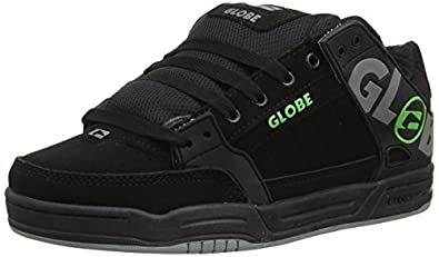Globe Tilt, Men Skateboarding Shoes, Black (Black/Grey/Green), 6 UK (39 EU)
