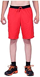 DFH Men's Cotton Shorts (MNR2, Red, 34)