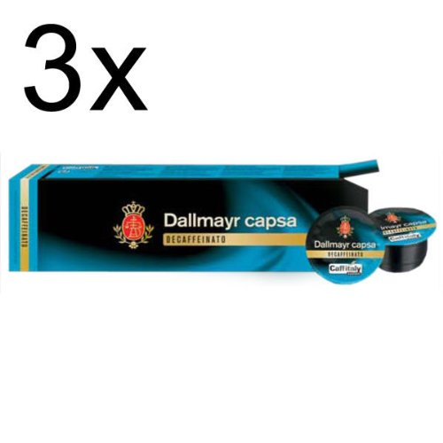Dallmayr capsa Decaffeinato, Pack of 3, 3 x 10 Capsules