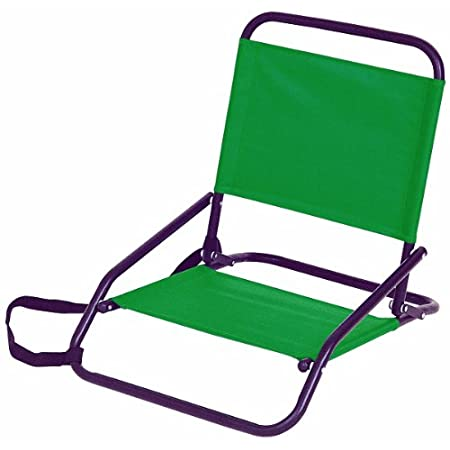 The Stansport Sandpiper Sand Chair is made of heavy gauge powder coated steel. It features a mesh pocket in the backrest for essentials, and a shoulder strap for easy carrying. The seat and back are made of nylon fabric. Weighs 4.1 lbs and has a maxi...