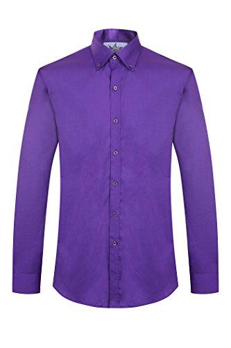 100% cotone manica lunga lavoro tempo libero scuola formale Camicie viola