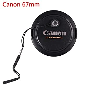 CowboyStudio 67mm Lens Cap for Canon Lens Replaces E-67U - Includes Lens Cap Holder