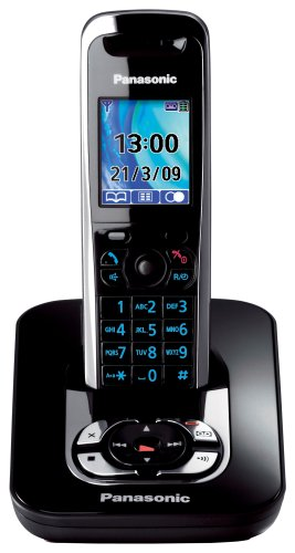 Panasonic KX-TG8421EB Colour DECT Single Phone With Answer Machine - Black