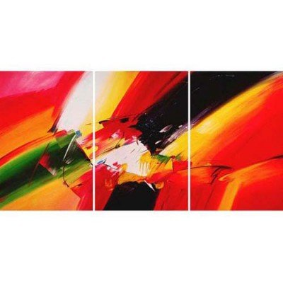Sangu 100% Hand Painted 3-Piece Colors For Abstract Oil Paintings Canvas Wall Art For Home Decoration