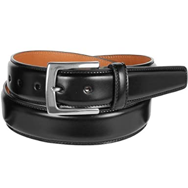 Layered Cordovan Dress Belt KTB-158: Black