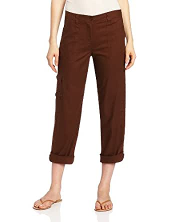 Jones New York Women's Ankle Capri Cargo Pant, Sienna Brown, 6