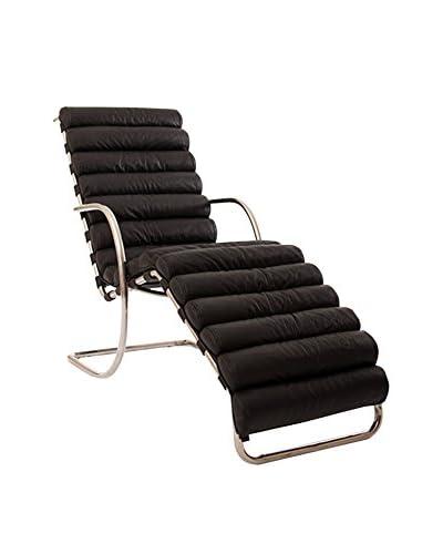 Kardiel Modern Arm Chaise Lounge, Black