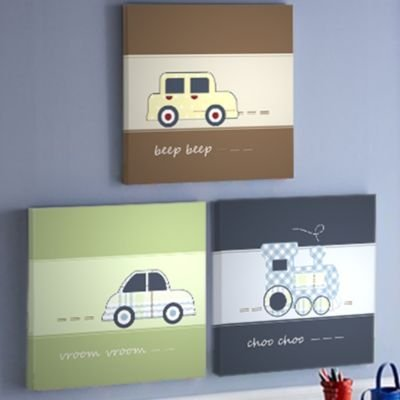 Keeco High Street Station Wall Art (Set of 3)
