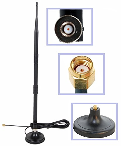 Wi-Fi 9dbi Booster Omni Directional 2.4Ghz-2.5Ghz Antenna RP-SMA Male on Magnetic Base,(19,5