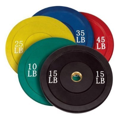 Very Cheap Olympic Weight Set Rubber Bumper Plate Set W