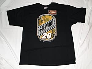 New Tony Stewart Black Nascar T-Shirt by Chase Authentics