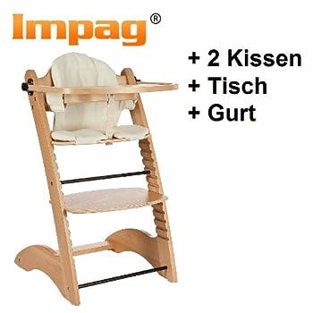 pas cher chaise haute volutive en h tre avec tablette amovible et avec 2 coussins l shape. Black Bedroom Furniture Sets. Home Design Ideas