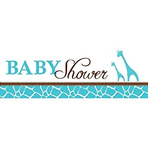 Creative Converting Baby Shower Wild Safari Blue Giant Party Banner, 60-Inch by Creative Converting