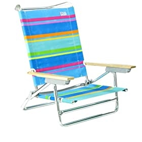 Lay Flat 5 position Beach Chair by Rio - S914