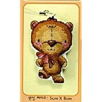 DMC クロスステッチキット 刺繍キット 小熊girl ストラップ