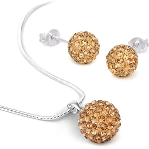 Jewelry Set Swarovski Element  Necklace Stud