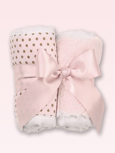 Baby's Pink Burp Cloth Set - S/2 - 1