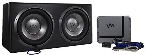 "VM Audio Dual 12"" Sealed 4800 Watt Complete Car Stereo Subwoofer Bass Package"