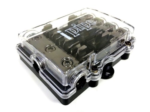 Audiopipe Ip-3448 4 Position 3 In 4 Out 4/8 Gauge Agu Fuse Holder Power Distribution Block
