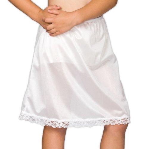 I.C. Collections Little Girls White Nylon Half Slip, 6