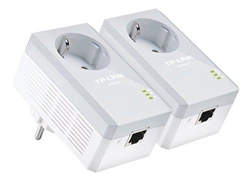 TP-Link-TL-PA4010PKIT-Powerline-Netzwerkadapter-500Mbps-Fast-Ethernet-integrierte-Steckdose-2er-Set