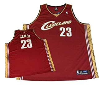 Lebron James Cleveland Cavaliers Authentic NBA Maroon Road Jersey by Reebok