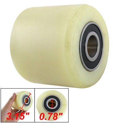 Amico 80mm Diameter 70mm Length Nylon Wheel Beige for Pallet Truck