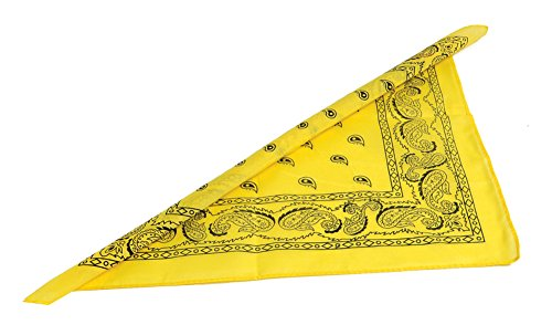 Dozen Bandanas (Choose Variety of Colors) Yellow (Country And Western Costumes)