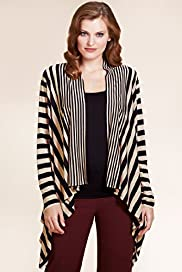 Per Una Open Front Striped Cardigan with Camisole