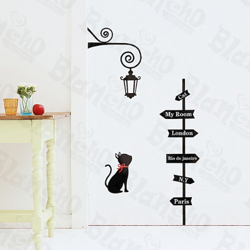 Lost Cat - Large Wall Decals Stickers Appliques Home Decor