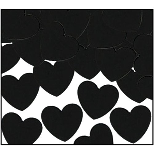 Fanci-Fetti Hearts (black) Party Accessory  (1 count) (1 Oz/Pkg) - 1