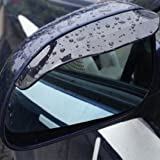 Black Universal Car Mirror Rain Visor Sun Visor for Suzuki Splash Escudo S-Cross SX4 Swift Alto Kizashi