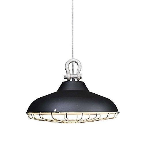 ETH Lampada a sospensione 'Strijp' industriale nera/metallo - adatta per LED / interna