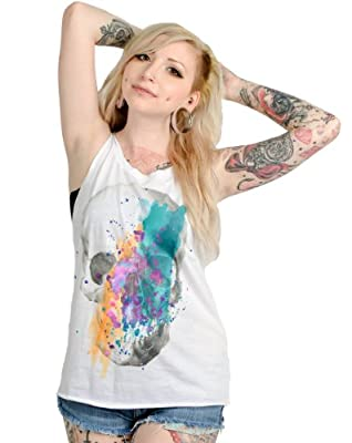 Loungefly Splatter Skull Raw Edge Tank from Loungefly