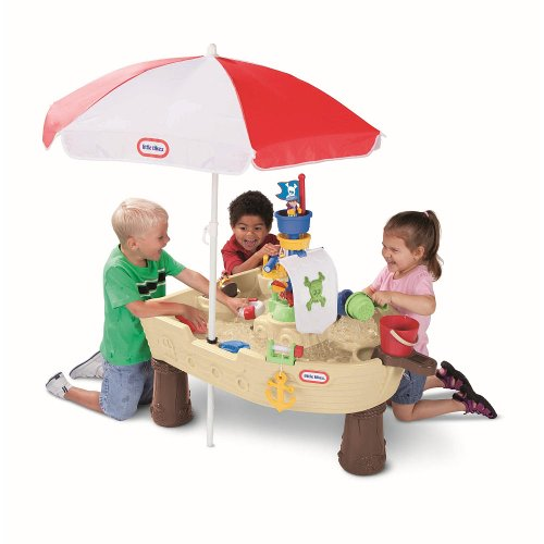 Image of Little Tikes Deluxe Anchors Away Pirate Ship With Umbrella