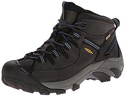 KEEN Men\'s Targhee II Mid WP Hiking Boot, Magnet/True Blue, 11.5 M US