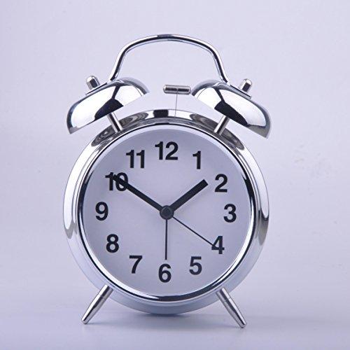 HITO™ 4 Silent Non-ticking Quartz Analog Alarm Clock w/ Extra Loud Alarm and Nightlight (NO17)