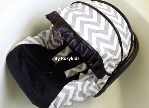 Infant Carseat Canopy Cover 3 Pc Whole Caboodle Baby Car Seat Cover Kit Cotton C030600