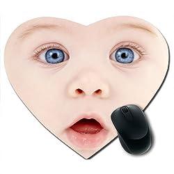 Awwsme Little Baby Face Heart Mousepad