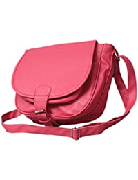Stalkers Fancy Stylish Elegance Fashion Sling Side Bag For Women & Girls (Pink)