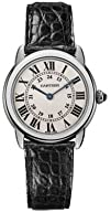 Cartier Womens W6700155 Ronde Solo Black Leather Watch